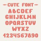 Простой красочной шрифт нарисованный рукой Завершите abc Стоковое Изображение