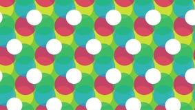 Простой красочный точечный растр белизны кругов иллюстрация вектора