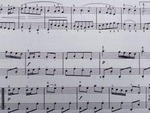 Простой лист музыки как симпатичная предпосылка для всего! Стоковое Фото