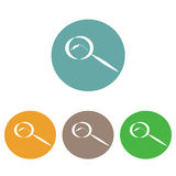 Простой логотип с горой внутри увеличивает на различных предпосылках иллюстрация штока