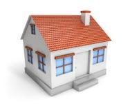 простой дом 3D иллюстрация штока