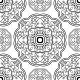 Простой орнамент с флористическими мандалами иллюстрация штока