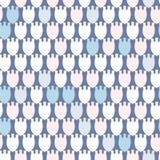 Простой пастельный цветочный узор для милой ребяческой ткани или scrapbooking предпосылки Стоковое Изображение