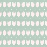 Простой пастельный цветочный узор для милой ребяческой ткани или scrapbooking предпосылки Стоковая Фотография