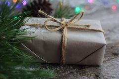 Простой подарок рождества Стоковая Фотография RF