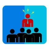 Простой символ, бизнесмен сердитый к другим людям бесплатная иллюстрация