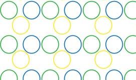 Простой современный абстрактный красочный patten круга Стоковые Изображения
