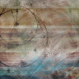 Простой текстурированная синь Брайна времени часов взгляда Grunge несенная предпосылкой Стоковые Фото