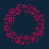 Простой флористический декоративный венок Стоковое Изображение
