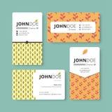 Простой шаблон визитной карточки Крышка, рогулька, шаблон листовки Стоковые Изображения