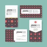 Простой шаблон визитной карточки Крышка, рогулька, шаблон листовки Стоковое Изображение
