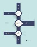 Простой шаблон Infographic постепенный Стоковая Фотография RF