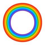 Простой элемент радуги 7 цветов на белизне бесплатная иллюстрация