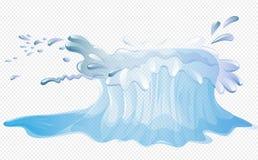 Просто большой выплеск воды иллюстрация вектора