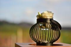 Просто и элегантное украшение на таблице Стоковые Фото