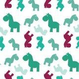 просто лошади papttern безшовное иллюстрация штока