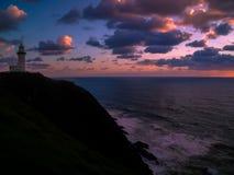 Просто сногсшибательный восход солнца над заливом Байрона, Австралией стоковое изображение rf
