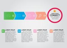 Просто infographic постепенный шаблон Стоковое Изображение RF