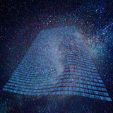 Пространственно-временная ткань Деформация времени - замедление времени Стоковые Фотографии RF