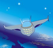 пространство для полетов Иллюстрация штока