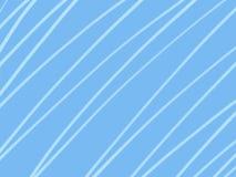 Простые белые линии на свете - голубой предпосылке Стоковая Фотография