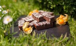 Простые блоки/бары шоколада Стоковое Изображение