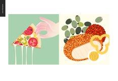 Простые вещи - еда бесплатная иллюстрация