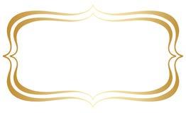 Простые двойные выровнянные граница или рамка вектора стоковые фото