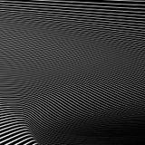 Простые динамические линии картина геометрическая картина Monochrome abst Стоковые Фото