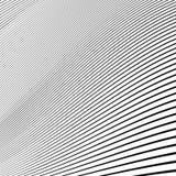 Простые динамические линии картина геометрическая картина Monochrome abst Стоковое Фото
