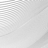 Простые динамические линии картина геометрическая картина Monochrome abst Стоковое Изображение RF