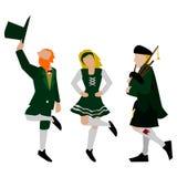 Простые ирландские характеры Стоковое Изображение