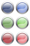 Простые кнопки сеты Стоковая Фотография