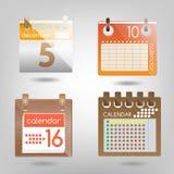 Простые комплекты календарей Стоковые Изображения