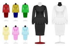 Простые костюм и юбка иллюстрация вектора