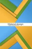 Простые красочные знамена вектора установленные в материальный стиль дизайна Стоковая Фотография RF