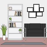Простые минималистские наборы вектора живущей комнаты иллюстрация штока