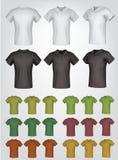 Простые мужские шаблоны рубашки поло бесплатная иллюстрация