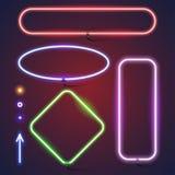 Простые неоновые рамки Стоковые Изображения RF