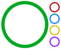 Простые, основные рамка/значки границы изолированные на белизне в цвете 5 иллюстрация вектора