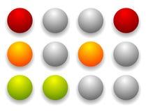 Простые светофор/лампа движения установили в последовательность Контролируйте lig иллюстрация вектора