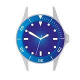 Простые современные водолазы спорта вводят голубые случай вахты и объект в моду eps10 шкалы бесплатная иллюстрация