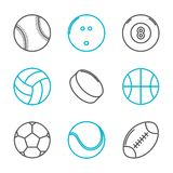 Простые ультрамодные установленные значки спорта Стоковое фото RF