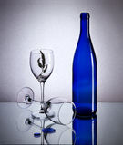 Простые цвета: голубой Стоковые Фото