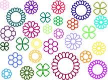 Простые цветки без заполнения стоковые изображения rf