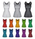Простый женский шаблон платья netball бесплатная иллюстрация