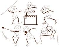 Простый план детей приниматься различную деятельность Стоковые Фотографии RF
