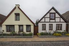 2 простых двухэтажных дома в Германии Стоковое фото RF