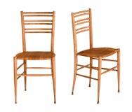 2 простых деревянных стуль кухни fruitwood Стоковые Изображения RF