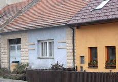 2 простых дома и милого в стране чехии Стоковое Изображение